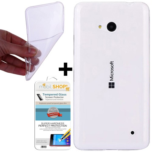 Mobil Shop Nokia Lumia 532 Kılıf 0.2MM Silikon (Kırılmaz Cam)