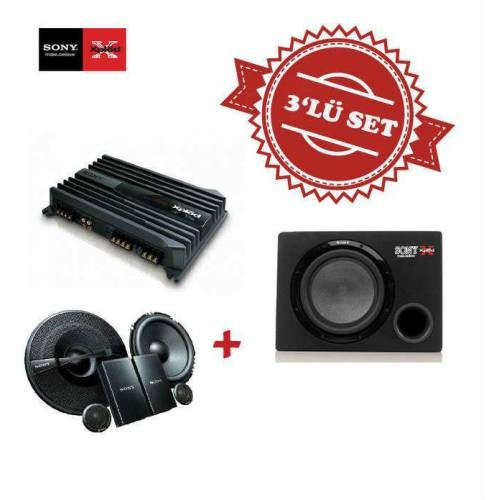 Sony XM-N1004 4 kanal Amfi ,XS-NW1200E Kabinli Subwoofer , XS-GS1621C Mid Takım