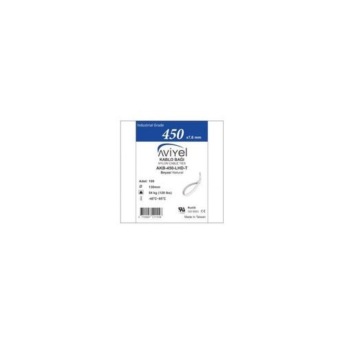 Haksatelektrik Aviyel Kablo Bağı Beyaz 4,8X370