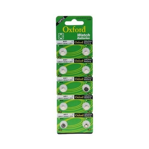 Oxford Ag1 Lr621 364 Alkaline Düğme Pil 10 Adet