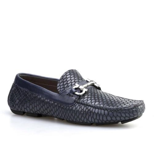 Cabani Yılan Baskı Günlük Erkek Ayakkabı Bej Nubuk