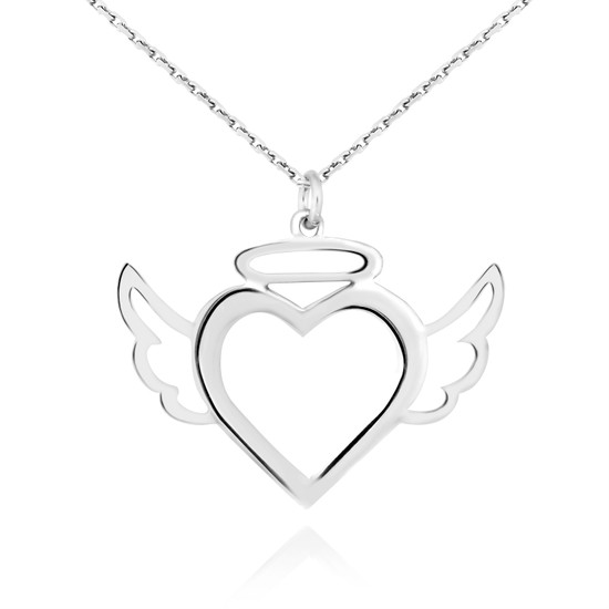 Chavin Sen Benim Meleğimsin, Kalp Gümüş Bayan Kolye ct01