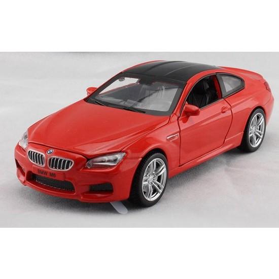 Vardem Bmw M6 1:32 Çek Bırak Kırmızı Metal Araba (Sesli Işıklı)