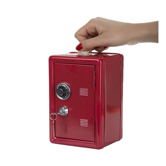 BuldumBuldum Metal Saving Bank - Kilitli Kasa Kumbara - Kırmızı