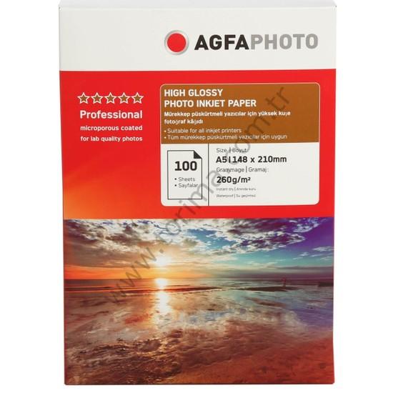 Agfa Photo İnkjet Kağıt A5 Glossy(Parlak)
