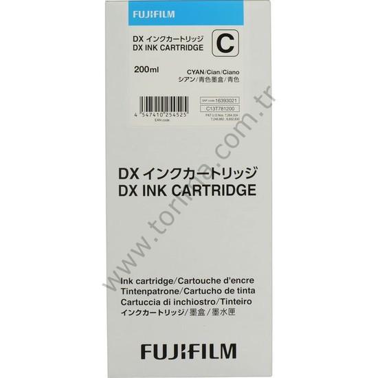 DX100 Yazıcı için Fujifilm Mavi (Cyan) Mürekkep Kartuşu