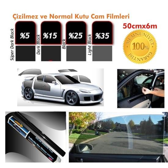 Cam Filmi Kutu Bir Arabalık 50Cmx6M Dark Black