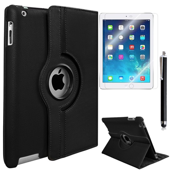 Exclusive Phone Case iPad 3 Kılıf Tam Korumalı +Tempered Glass+KalemOtg Kablo