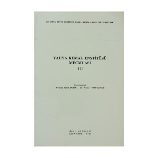 Yahya Kemal Enstitüsü Mecmuası 3. Cilt