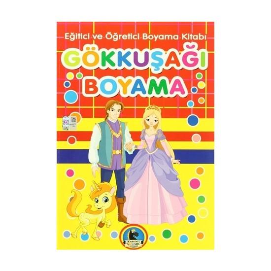 Gökkuşağı Boyama - Eğitici ve Öğretici Boyama Kitabı (4 Kitap Takım)
