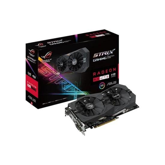 Asus ROG STRIX Amd Radeon RX 470 4GB OC 256Bit GDDR5 (DX12) PCI-E 3.0 Ekran Kartı STRIX-RX470-O4G- Gaming