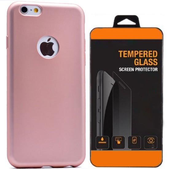 Exclusive Phone Case İphone 6 6S Plus Kılıf Mat Silikon +Tempered Glass