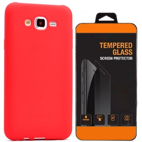 Exclusive Phone Case Samsung Galaxy J2 Kılıf Mat Silikon +Tempered Glass