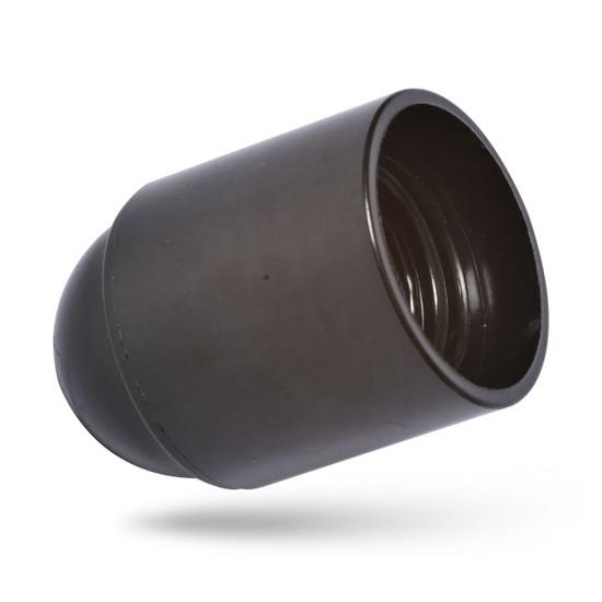 İthal E27 Düz Duy Siyah