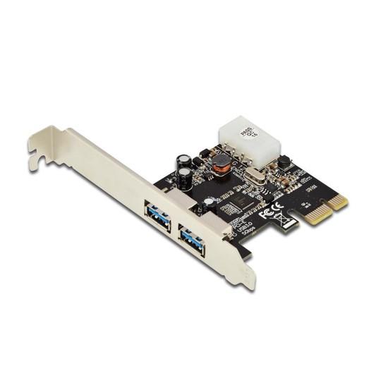 Digitus 2 Port&#039:Lu Pcı Express Usb 3.0 Kart, Nec Upd720202 Chipset&#039:Li, Low Profile Braket&#039:Li