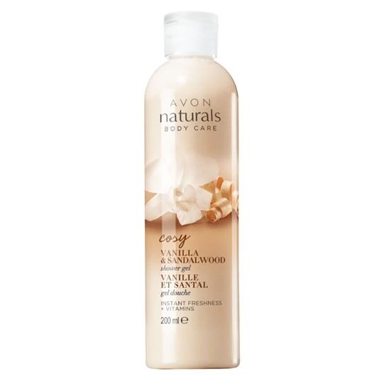 Avon Naturals Cosy Vanilla & Sandalwood Duş Jeli - 200ml
