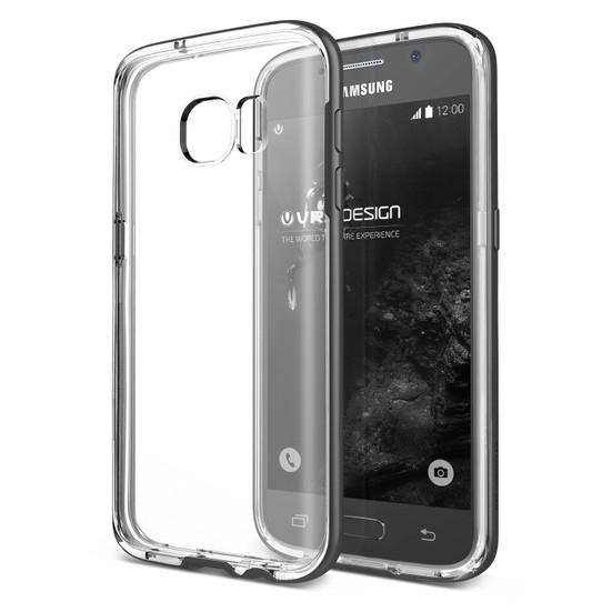Verus Samsung Galaxy S7 Edge Crystal Bumper Kılıf Steel Silver