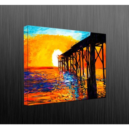 Duvar Tasarım DLC6047 Led Işıklı Kanvas Tablo - 60x40 cm