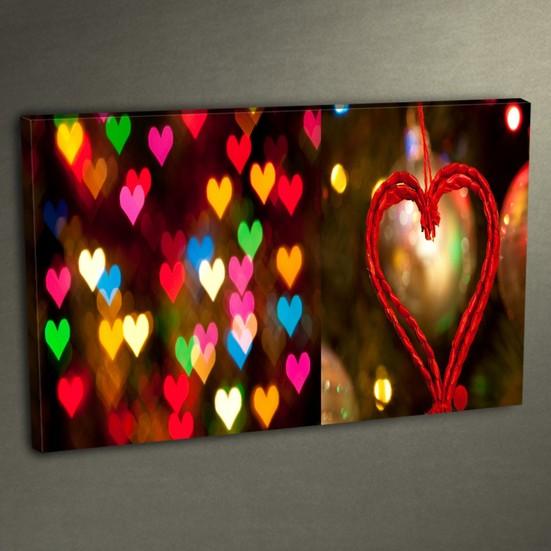 Duvar Tasarım DLC 3001 Ledli Kanvas Tablo - 50x70 cm
