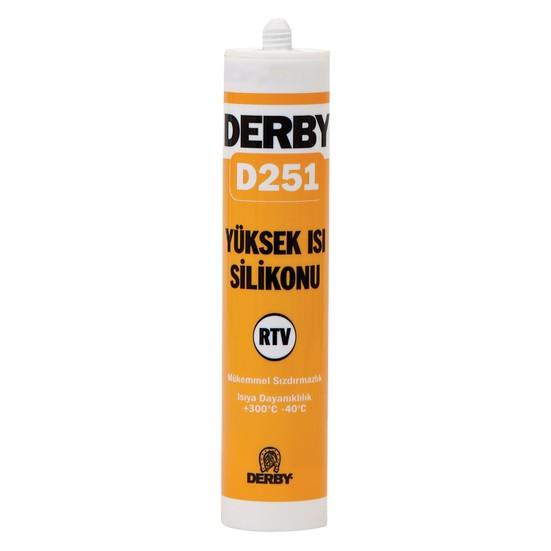 Derby D251 Yüksek Isı Silikonu Kırmızı 280ml
