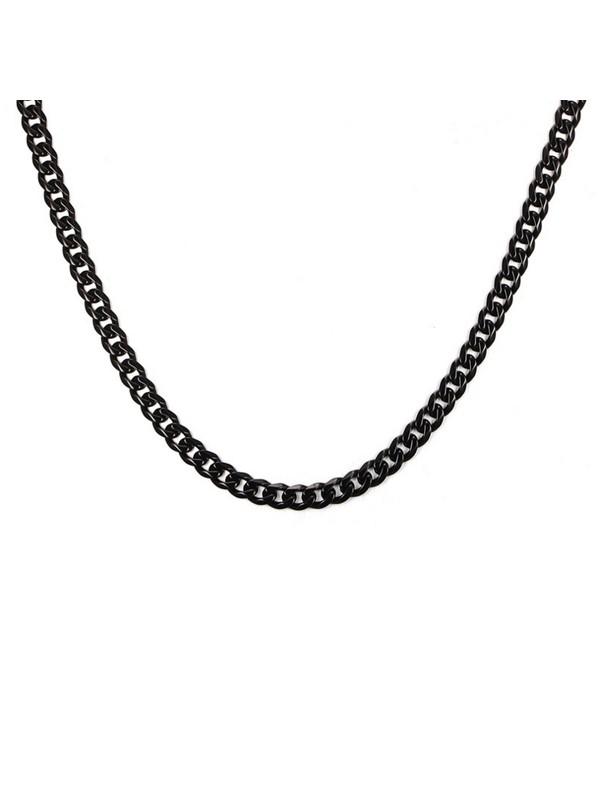Chavin Traşlı 75 cm. Uzun Siyah 5 mm. Erkek Çelik Zincir df16