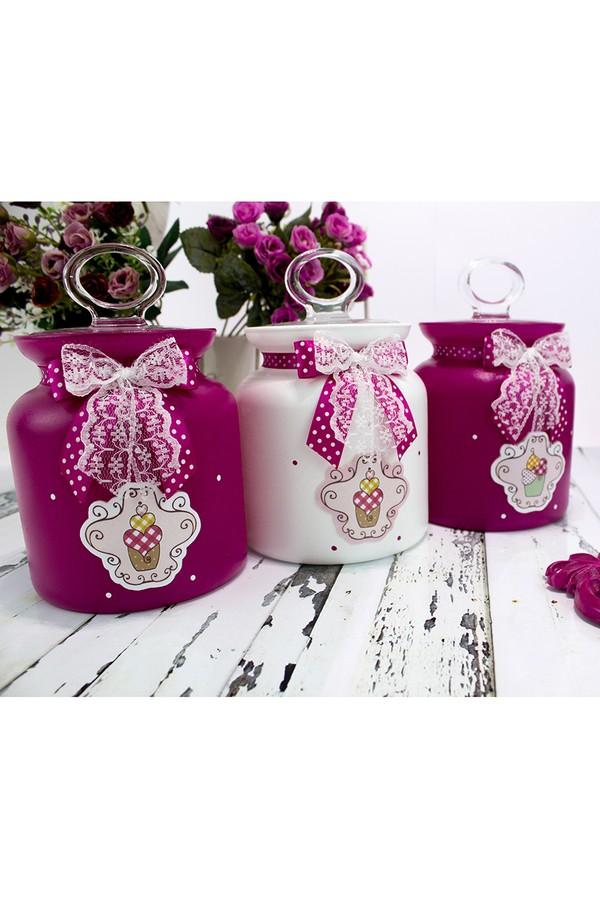 Dekorelle Glass Jar Set 3 Pieces