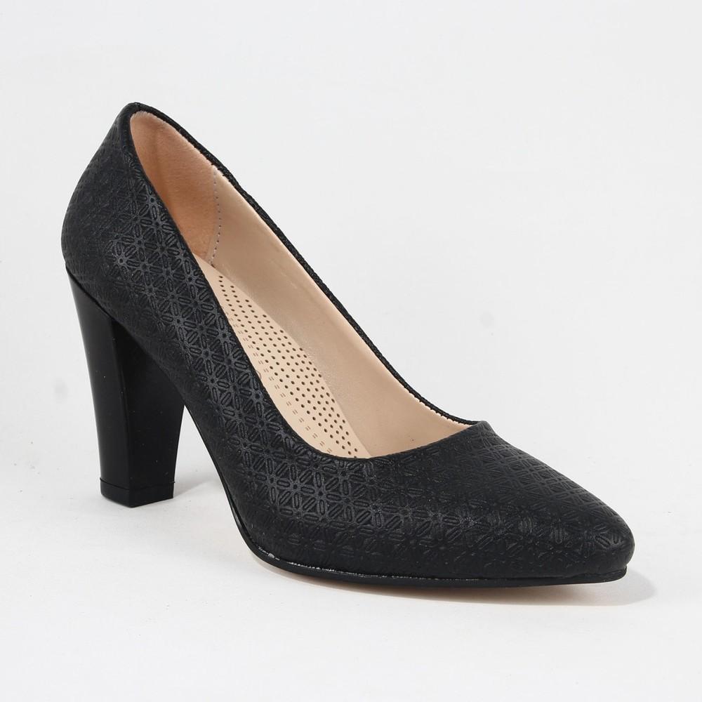 Yeystore Desniy 67 Bayan Desnle Topuklu Ayakkabı Siyah