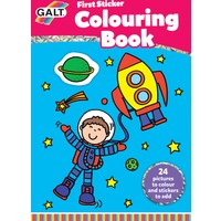 First Sticker Colouring Book 3 Yaş+