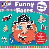 Funny Faces Sticker Book 3 Yaş+