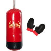 Delta Çocuk Boks Seti Kırmızı ( Boks Torbası & Eldiven ) - DBS 99233