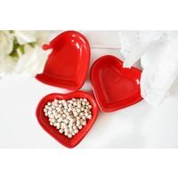 Keramika 6 Adet Kalp Çerezlik 14 Cm 506 Kırmızı