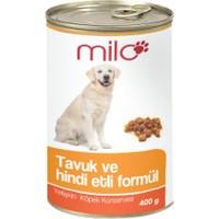 Milo Tavuk&Hindili Köpek Konservesi 400 gr - 24'lü