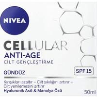 Nivea Cellular Cilt Gençleştirici Yüz Gündüz Bakım Kremi Gkf15 50Ml