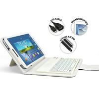 Mobilburda Samsung Galaxy Tab 3 8.0 Kılıf Klavyeli Kılıf T310-T311