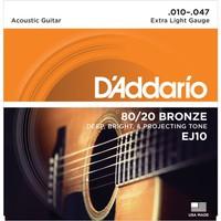 Daddarıo Ej10 Akustik Tel Set Extra Light (.010)