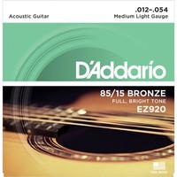 Daddarıo Ez920 012 Akustik Gitar Teli 85-15 Med Lıte