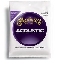 Martin M535 011 Akustik Gitar Tel Seti Yeni Phosphor Bronze Custom Lıght