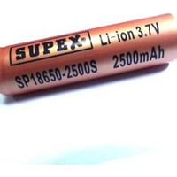 Olight El Fenerleri Supex 18650 2500Mah 3.7V Şarjlı Pil