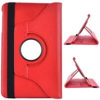 Samsung Galaxy Tab A6 T580 10.1 360 Döner Kırmızı Stand Kılıf