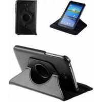 Samsung Galaxy Tab 3 T116 360 Dönebilen Siyah Stand Kılıf