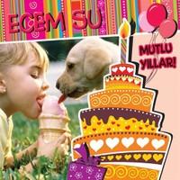 BuldumBuldum Kişiye Özel Rengarenk Doğum Günü Ürünleri - Yuvarlak Duvar Saati