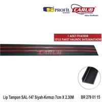 Carub Carpi Lip Tampon Sal-147 Siyah-Kırmızı 7Cmx2.30M