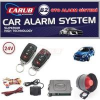 Carub B2 Alarm Kumandalı 24V Krom Siyah