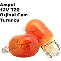 Demircioğlu Ampul 12V 21W T20 Cam Park Orange