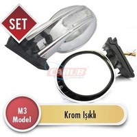 Demircioğlu Ayna Dış M3 Model Krom Işıklı