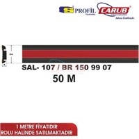 Salman Çıta Sal107 (24Mmx50 Metre) Siyah Kırmızı