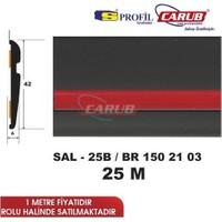 Salman Çıta Sal25B (42Mmx25 Metre) Kt Siyah Şerit Kırmızı