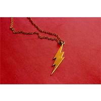Crystal Baby 925 Ayar Gümüş Özel Tasarım Flash (Şimşek) Kolye