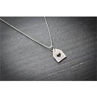 Crystal Baby Gümüş Özel Tasarım Kalpli Zarf Kolyesi