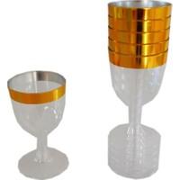 Parti Şöleni Altın Şarap Kadehi ( 6 Adet )